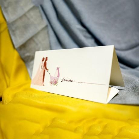 Plic de bani Julie Miri cu Cãrut - Nuntã - Botez