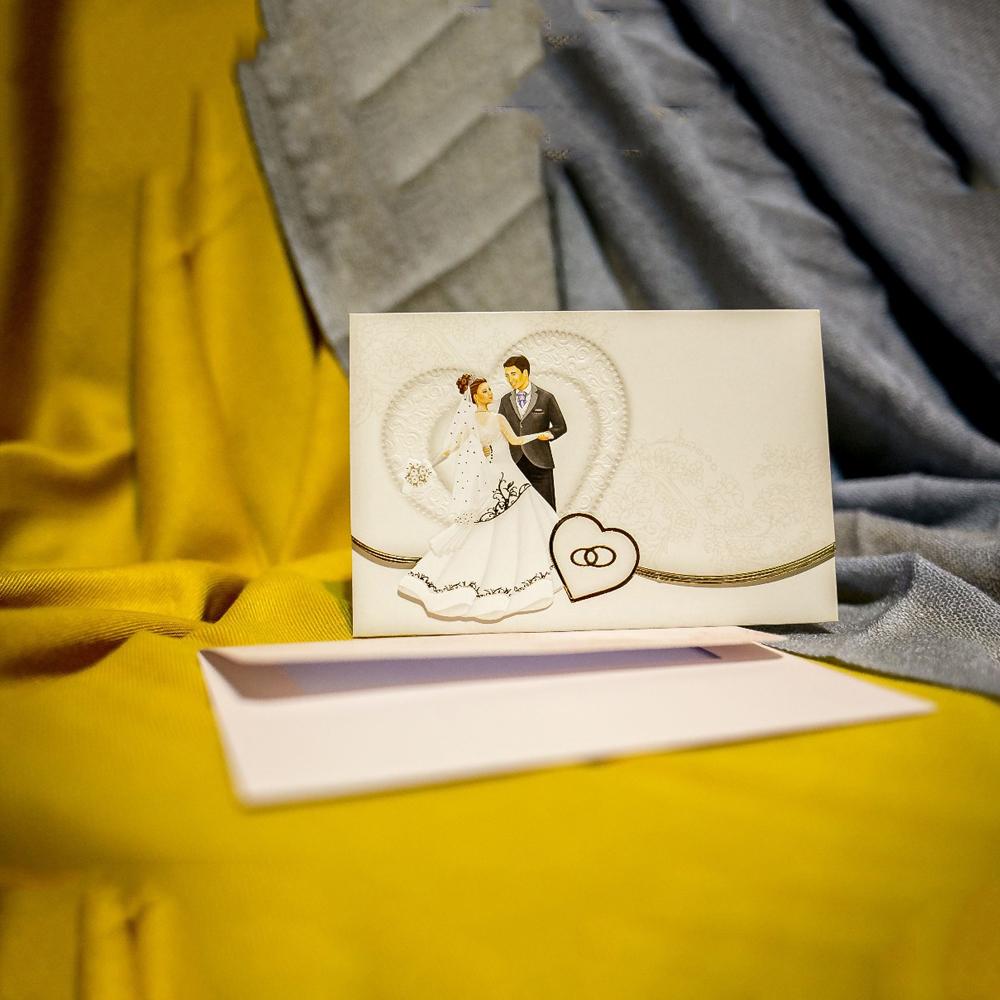 Invitatie de nunta Pamina Miri Emboss si Verighete - Verighete
