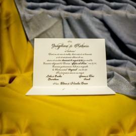 Invitatie de nunta Pamina Miri Emboss si Verighete