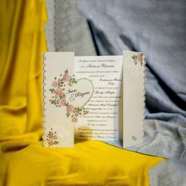 Invitatie de nunta Raphaela Inimioarã Floral