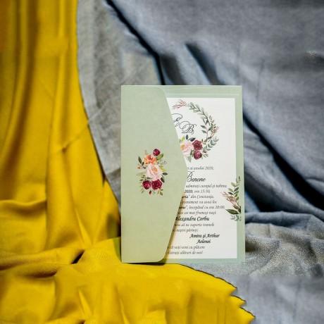 Invitatie de nunta Floriana Coroanã Floral