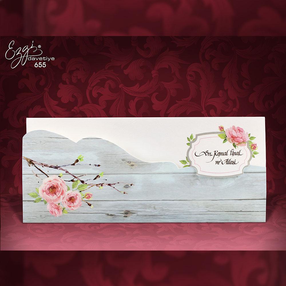 Invitatie de nunta 655 - Flori