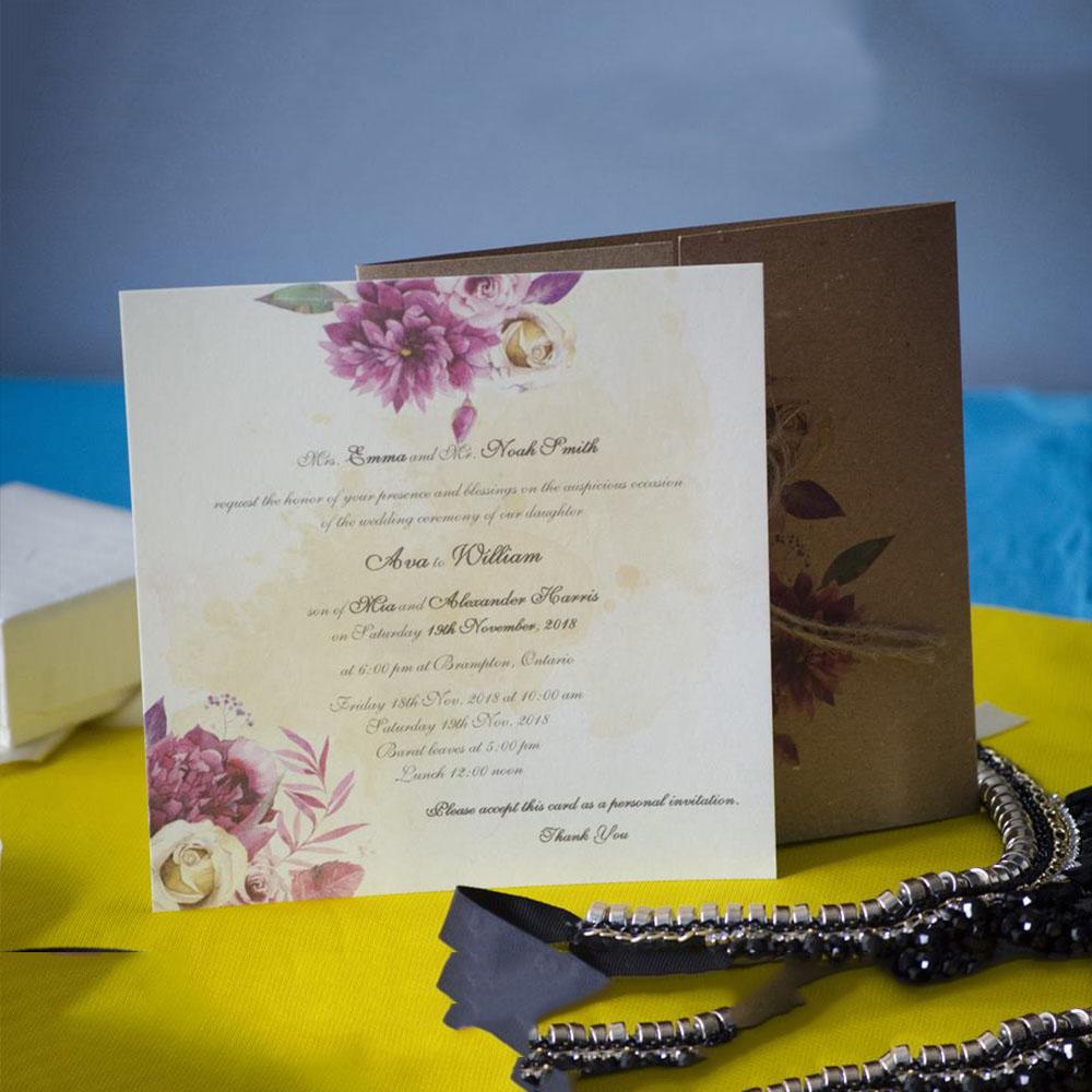 Invitatie de nunta 94010 - Vintage