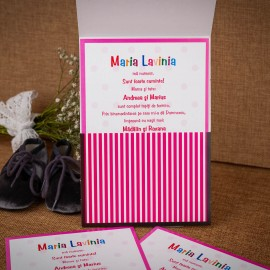 Invitatie de botez Abbie Minnie Mouse
