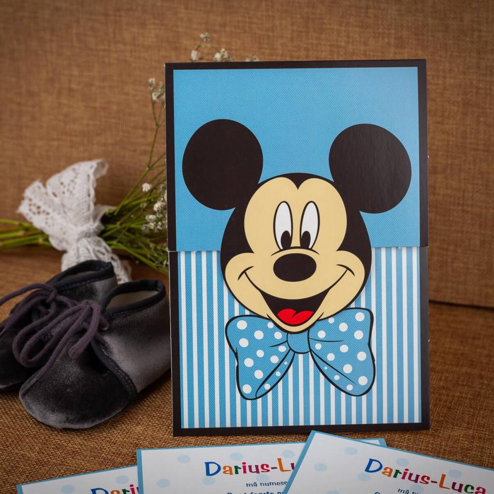 Invitatie de botez Barnaby Mickey Mouse - Invitatii De Botez