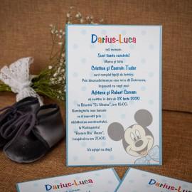 Invitatie de botez Barnaby Mickey Mouse