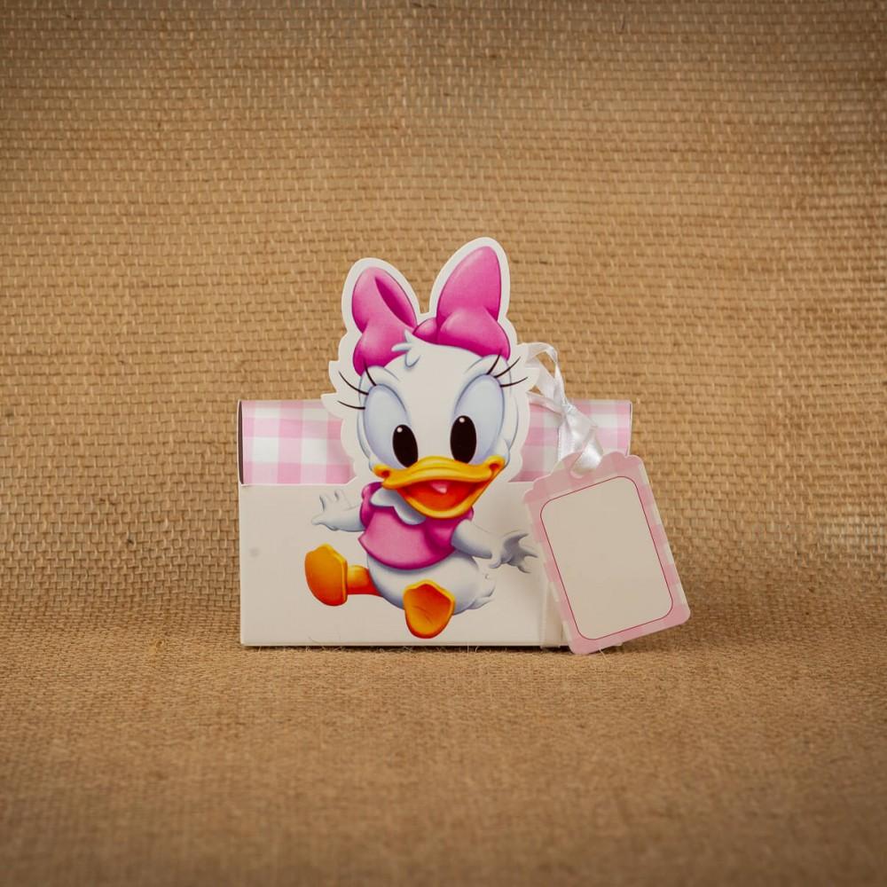 Invitatie de botez Donata Daisy Duck Cutiuta - Invitatii De Botez