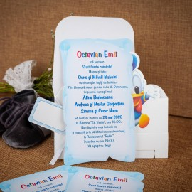 Invitatie de botez Emmanuel Donald Duck Cutiutã