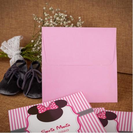 Invitatie de botez Annabeth Minnie Mouse Funditã - Invitatii De Botez