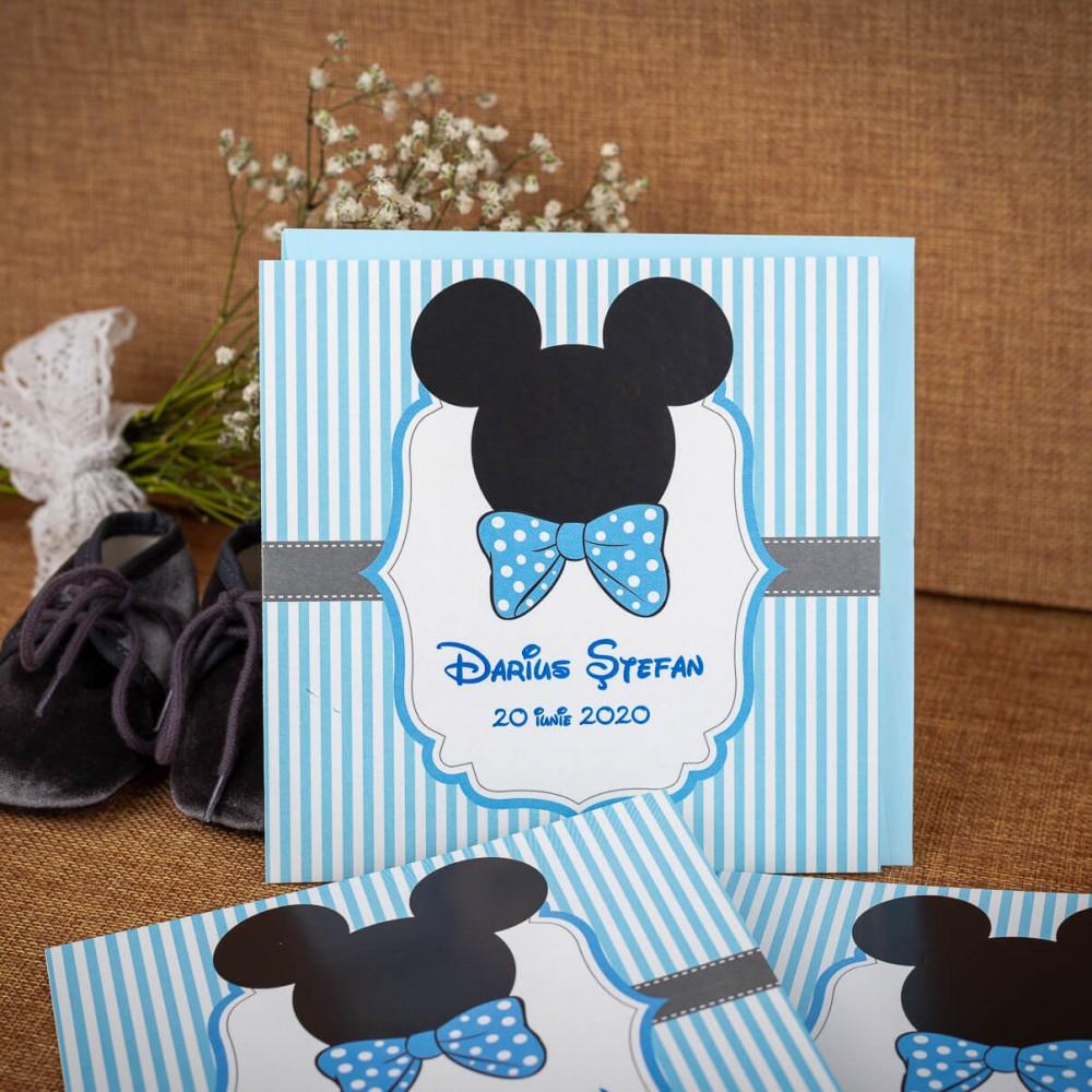 Invitatie de botez Raymond Mickey Mouse - Invitatii De Botez