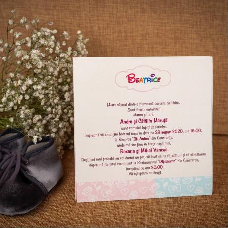 Invitatie de botez Adelyn Bebe Clasic Unisex - Invitatii De Botez