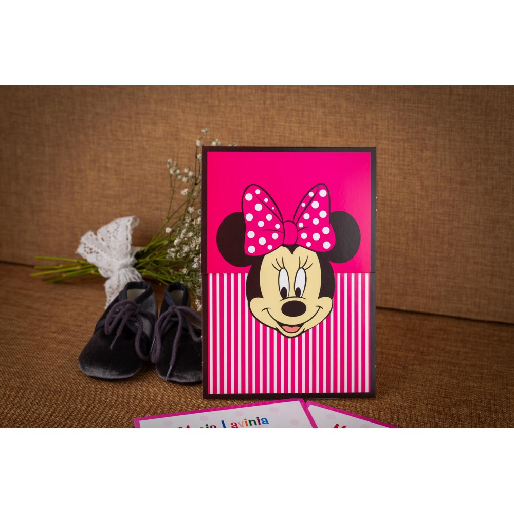 Invitatie de botez Abbie Minnie Mouse - Invitatii De Botez
