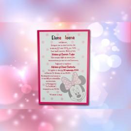 Invitatie de botez Abbie Minnie Mouse