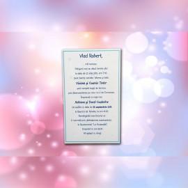 Invitatie de botez Darius Bebe cu Stelute