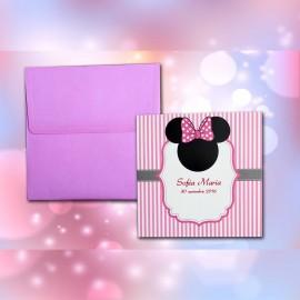 Invitatie de botez Annabeth Minnie Mouse Funditã