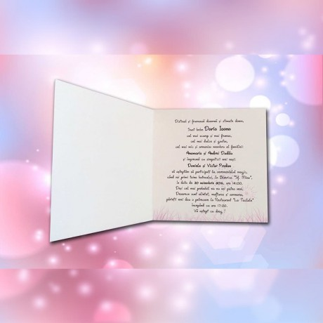 Invitatie de botez Ellison Bebe în Leagãn - Invitatii De Botez