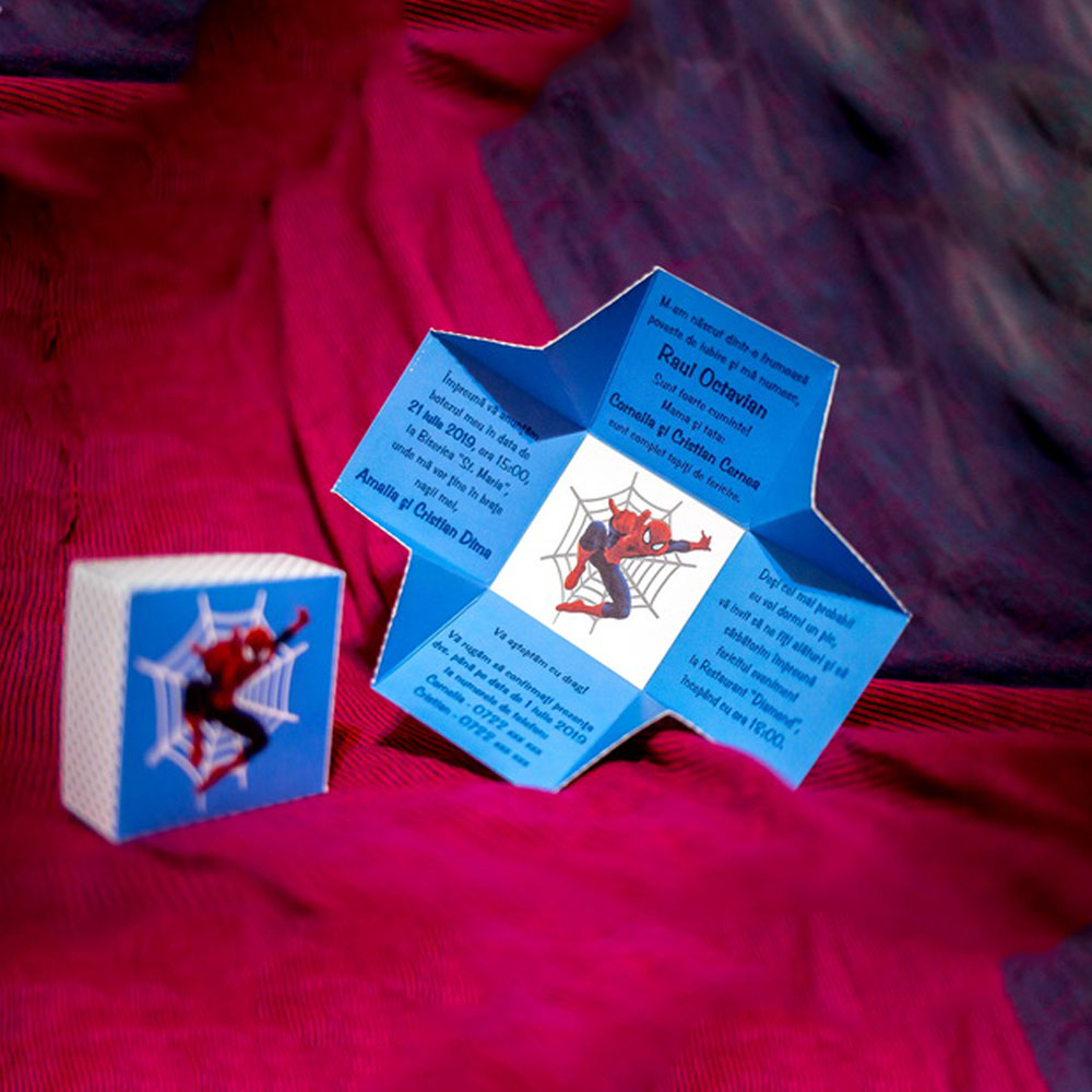Invitatie de botez Jax Spider-Man Cutiutã - Invitatii De Botez