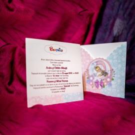 Invitatie de botez Adelyn Bebe Clasic Unisex
