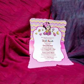 Invitatie de botez Betsy Baby Minnie Mouse Papirus