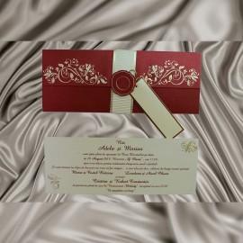 Invitatie de nunta Zinnia Floral Emboss - TIPARIRE GRATUITA