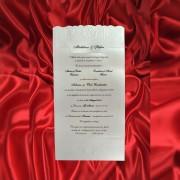 Invitatie de nunta Yselda Floral Emboss - TIPARIRE GRATUITA