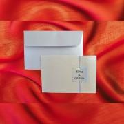 Invitatie de nunta Venerande Floral Emboss cu Chenar - TIPARIRE GRATUITA
