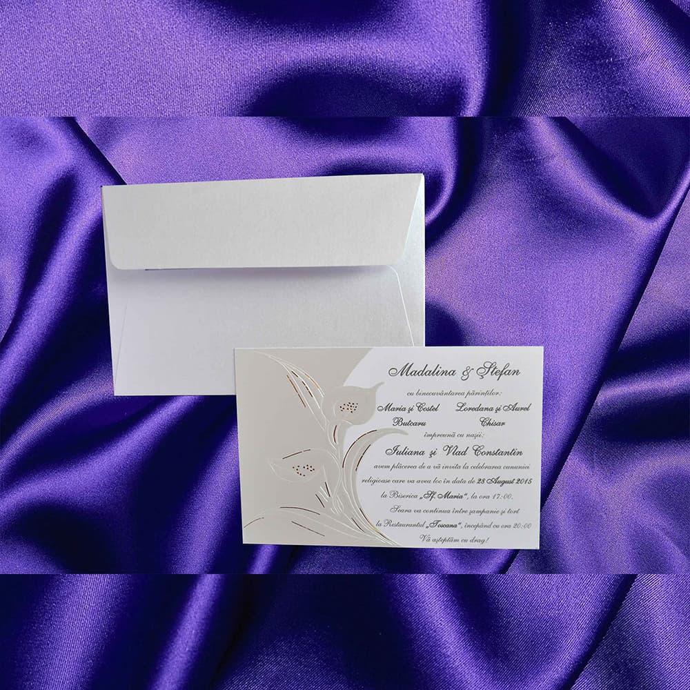 Invitatie de nunta Verdinia Calã Sidefat - ASAMBLARE GRATUITA - Florale