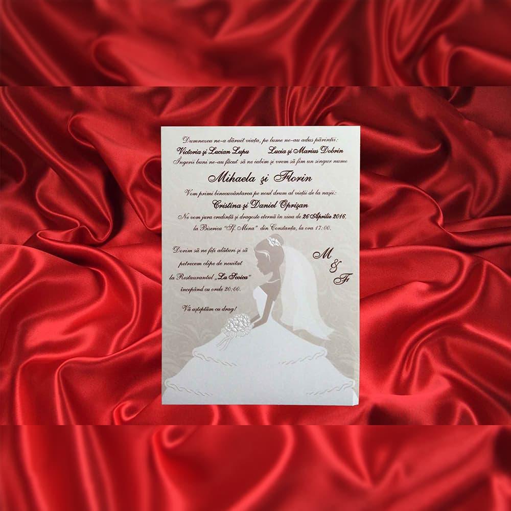 Invitatie de nunta Amandine Mireasã Sidef - TIPARIRE GRATUITA - Miri