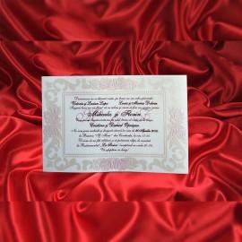 Invitatie de nunta Apolline Floral Emboss Sidef - TIPARIRE GRATUITA