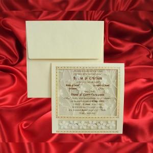 Invitatie de nunta Athole Floral Sclipici - TIPARIRE GRATUITA