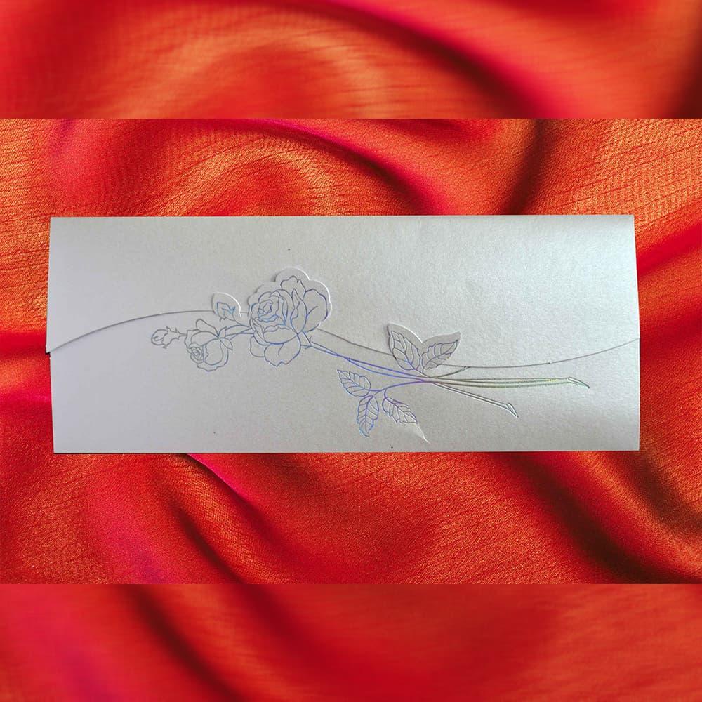 Invitatie de nunta Arnoldina Floral Argintiu - TIPARIRE GRATUITA - Florale