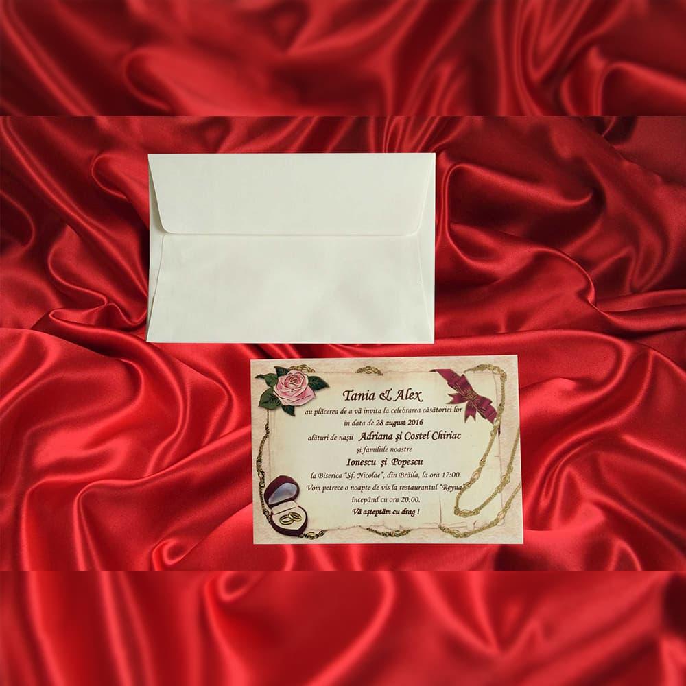 Invitatie de nunta 2251 - Sub 1 ron