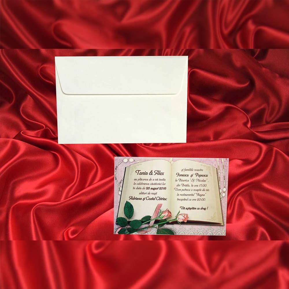 Invitatie de nunta Christianna Vintage Floral - ASAMBLARE GRATUITA - Vintage