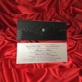 Invitatie de nunta Romula Damask Lacuit - ASAMBLARE GRATUITA