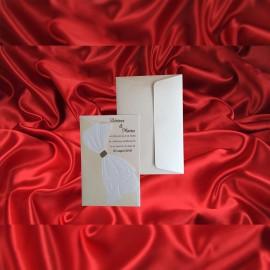 Invitatie de nunta Rosey Fundã Emboss - ASAMBLARE GRATUITA