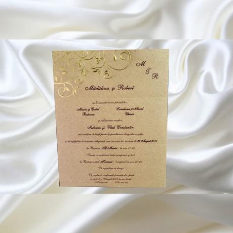 Invitatie de nunta 523 - Sub 1 ron