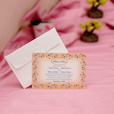Invitatie de nunta 602 - Logodna