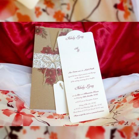 Invitatie de nunta 4085 - Vintage