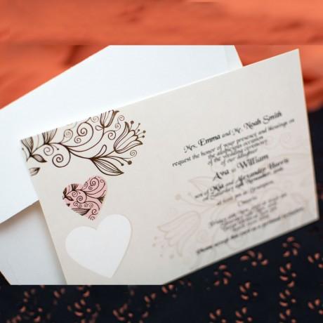 Invitatie de nunta 179 - Inimioare