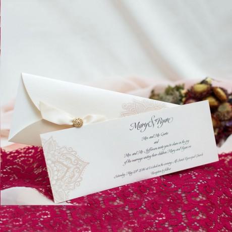 Invitatie de nunta 192 - Perle sau Fundite