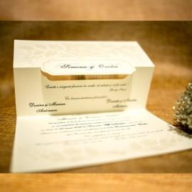 Invitatie de nunta Rafaela Floral în Relief