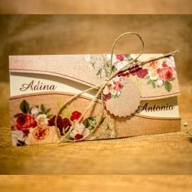 Invitatie de nunta Floral Matt