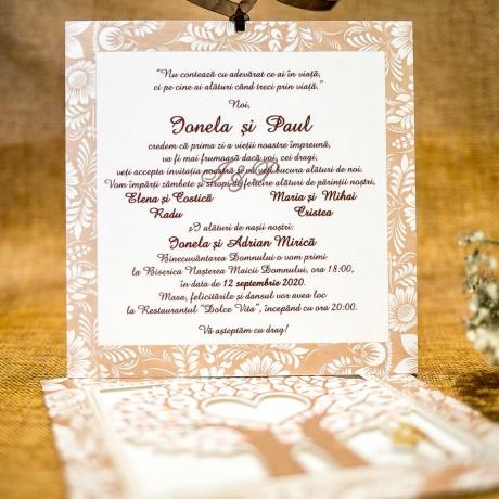 Invitatie de nunta Seraphina Copacul Vietii - Miri
