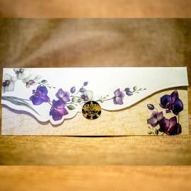 Invitatie de nunta Eulalia Floral tip Plic