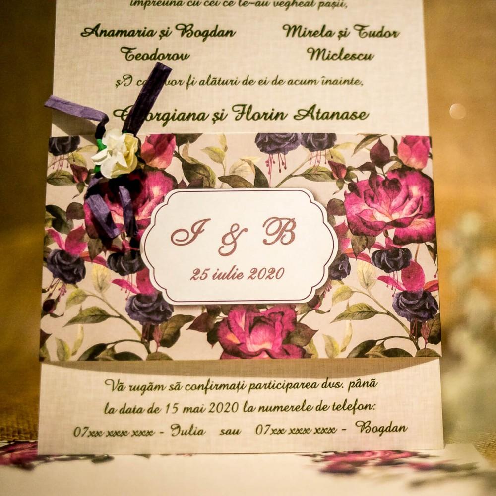 Invitatie de nunta Feodora Floral Deosebitã - Florale