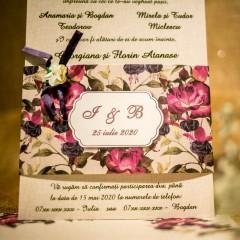 Invitatie de nunta Feodora Floral Deosebitã