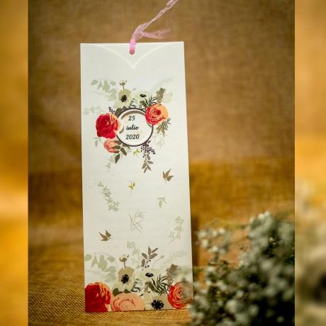 Invitatie de nunta Callie Floral cu Panglicã - Panglicã