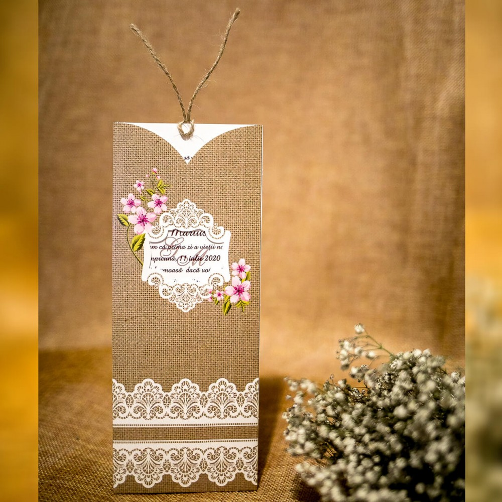 Invitatie de nunta Jasper Vintage Snur Iutã