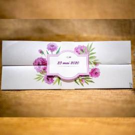 Invitatie de nunta Marilla Floral Sidefat