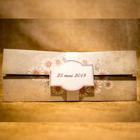 Invitatie de nunta Marilla Floral Vintage - TIPARIRE GRATUITA